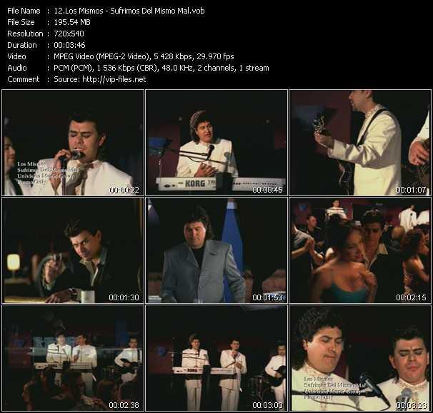 Los Mismos video screenshot