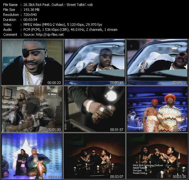 Slick Rick Feat. Outkast video screenshot
