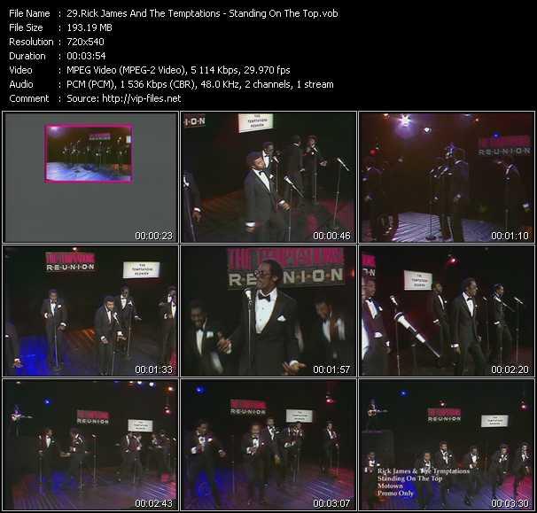 Rick James And The Temptations video screenshot
