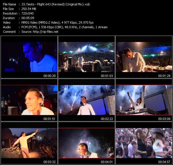 Tiesto video screenshot