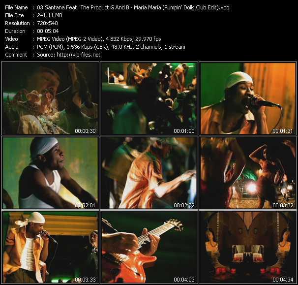 Santana Feat. The Product G And B video screenshot