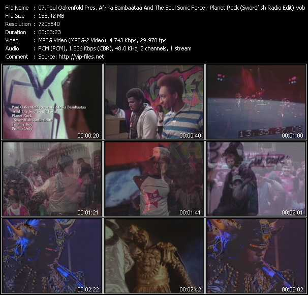 Paul Oakenfold Presents Afrika Bambaataa And The Soul Sonic Force video screenshot