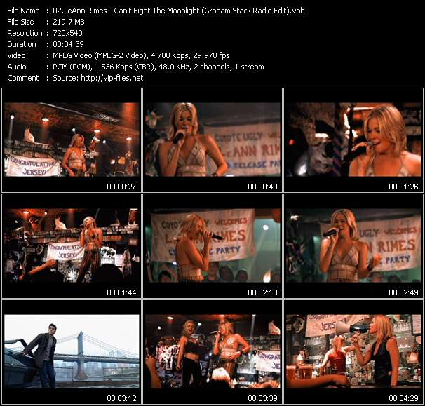video Can't Fight The Moonlight (Graham Stack Radio Edit) screen