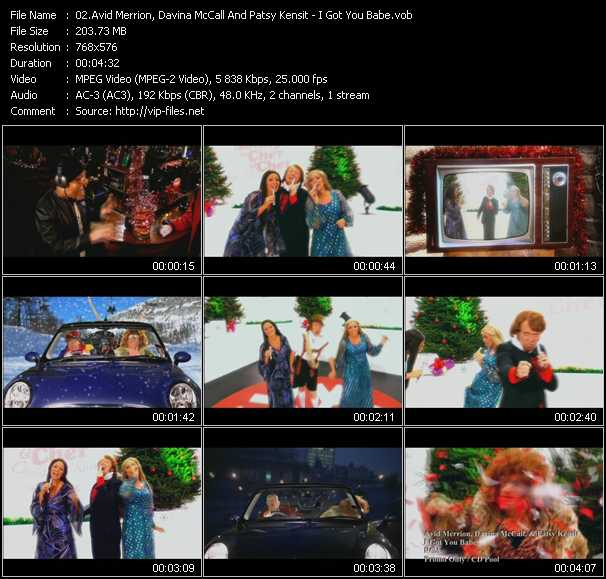 Avid Merrion, Davina McCall And Patsy Kensit video screenshot