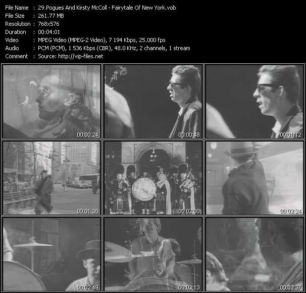 Pogues And Kirsty MacColl video screenshot