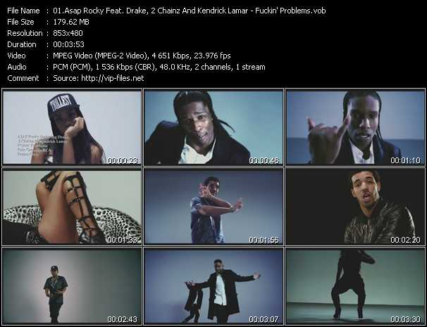 Asap Rocky Feat. Drake, 2 Chainz And Kendrick Lamar video screenshot