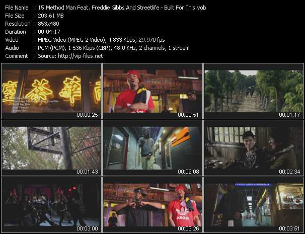 Method Man Feat. Freddie Gibbs And Streetlife video screenshot