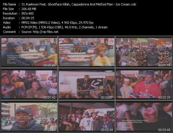 Raekwon Feat. Ghostface Killah, Cappadonna And Method Man video screenshot