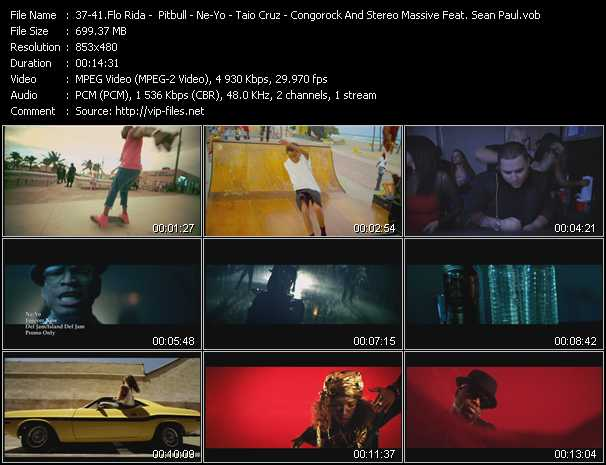 Flo Rida - Pitbull - Ne-Yo - Taio Cruz - Congorock And Stereo Massive Feat. Sean Paul video screenshot