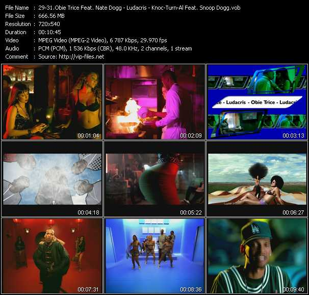 Obie Trice Feat. Nate Dogg - Ludacris - Knoc-Turn'Al Feat. Snoop Dogg video screenshot