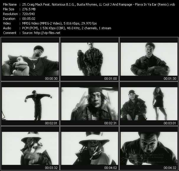 Craig Mack Feat. Notorious B.I.G., Busta Rhymes, LL Cool J And Rampage video screenshot