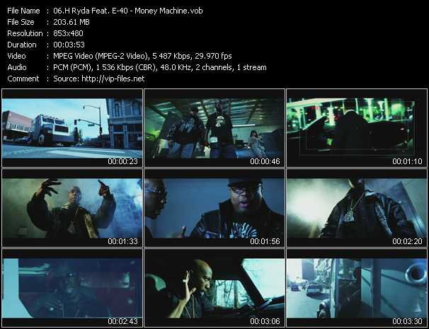H Ryda Feat. E-40 video screenshot