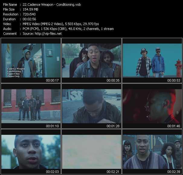 Cadence Weapon video screenshot