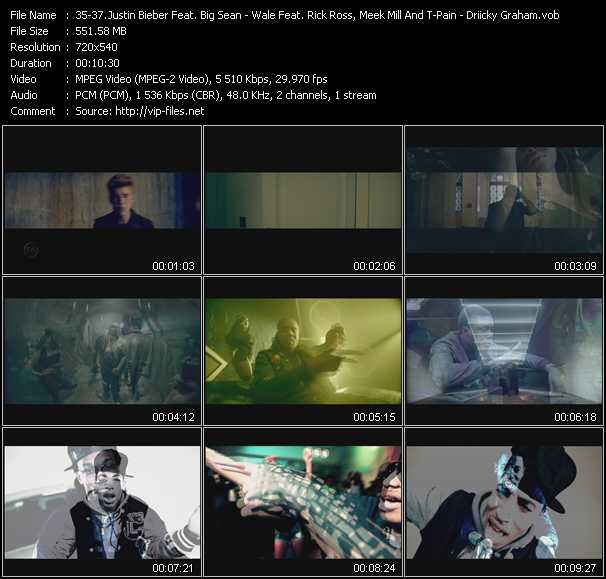 Justin Bieber Feat. Big Sean - Wale Feat. Rick Ross, Meek Mill And T-Pain - Driicky Graham video screenshot
