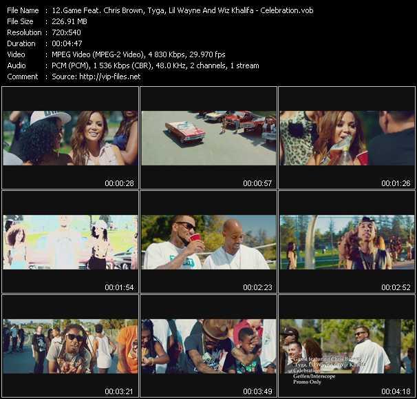 Game Feat. Chris Brown, Tyga, Lil' Wayne And Wiz Khalifa video screenshot