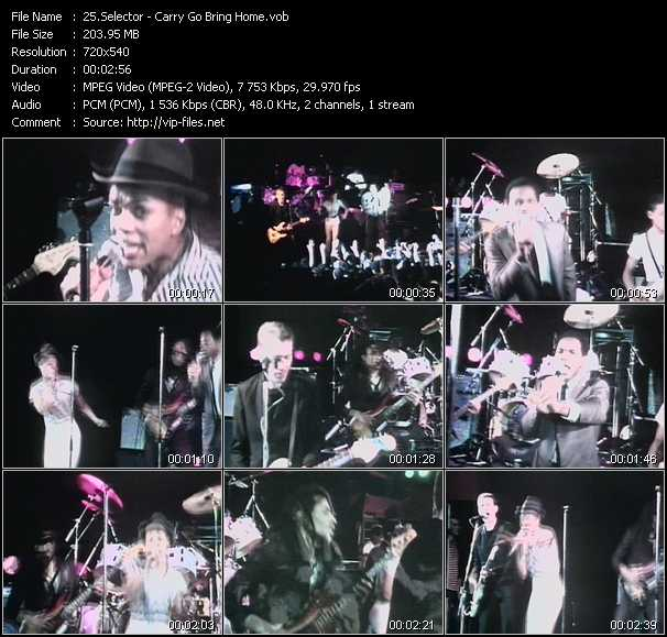 Selecter video screenshot