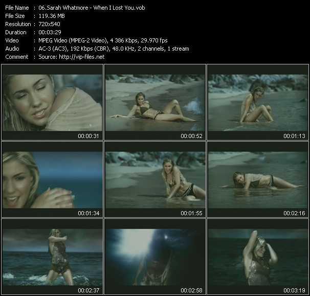 Sarah Whatmore video screenshot