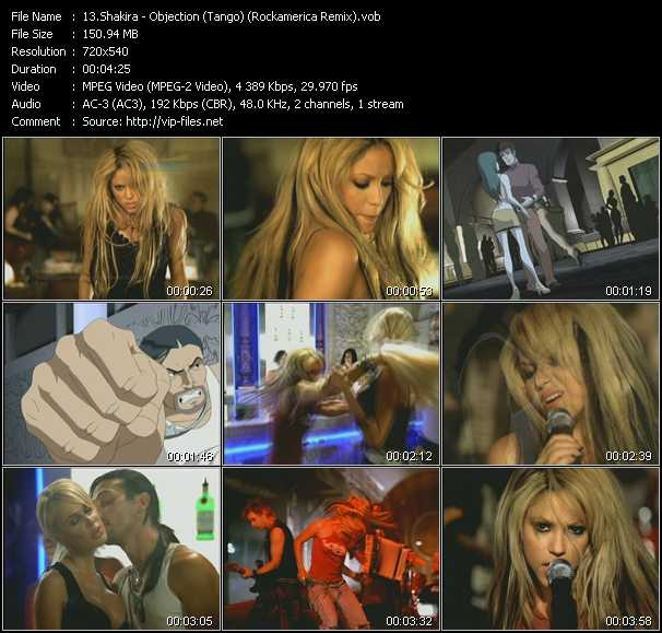 video Objection (Tango) (Rockamerica Remix) screen