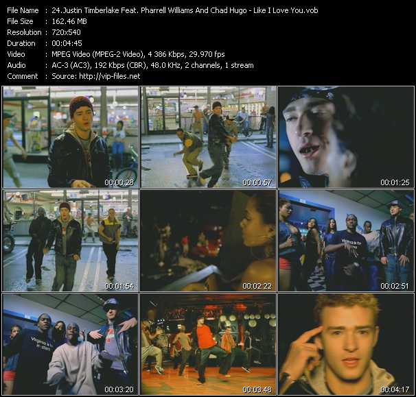 Justin Timberlake Feat. Pharrell Williams And Chad Hugo video screenshot