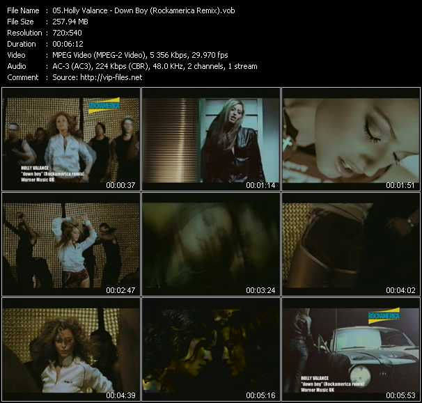 Holly Valance video screenshot