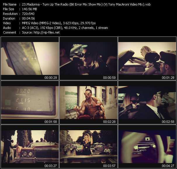 video Turn Up The Radio (Bit Error Mix Show Mix) (Vj Tony MacAroni Video Mix) screen