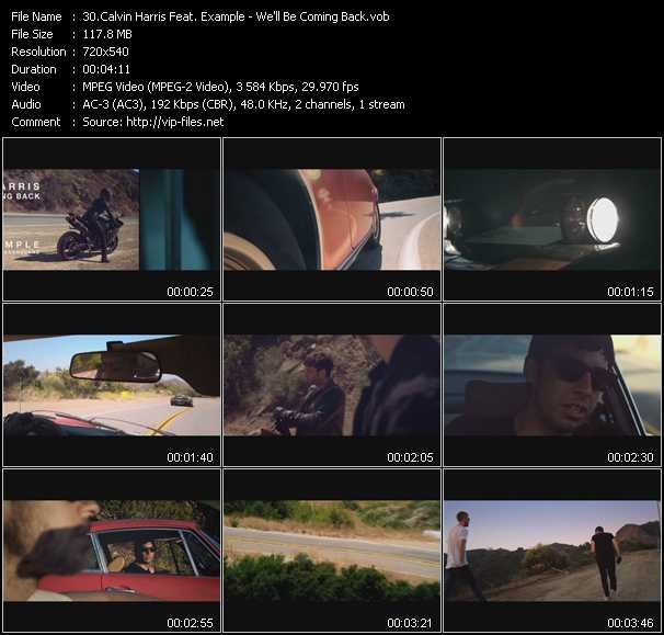 Calvin Harris Feat. Example video screenshot