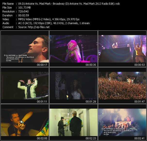 video Broadway (Dj Antoine Vs. Mad Mark 2k12 Radio Edit) screen