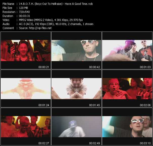 B.O.T.H. (Boyz Out To Hellraise) video screenshot
