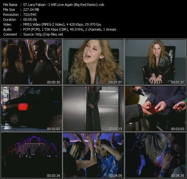 Lara Fabian video screenshot