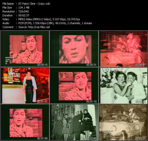 Patsy Cline video screenshot