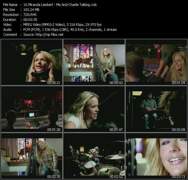 Miranda Lambert video screenshot