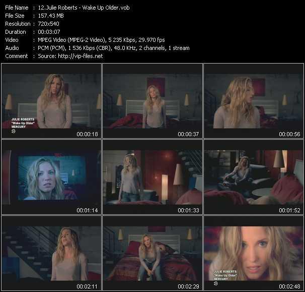 Julie Roberts video screenshot