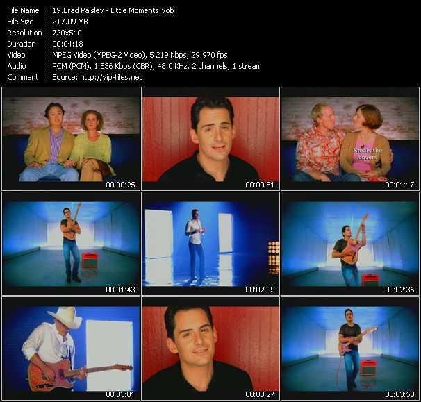 Brad Paisley video screenshot