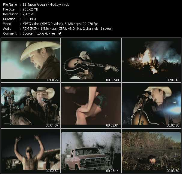 Jason Aldean video screenshot
