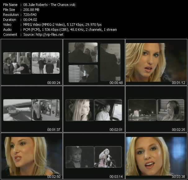 Julie Roberts video screenshot