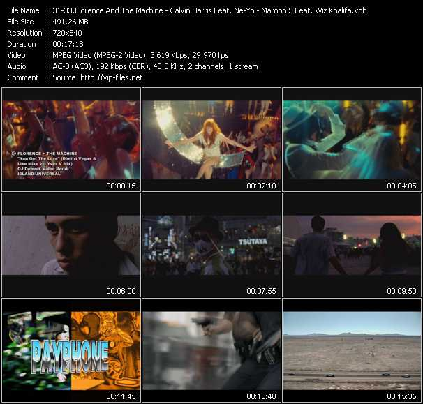 Florence And The Machine - Calvin Harris Feat. Ne-Yo - Maroon 5 Feat. Wiz Khalifa video screenshot