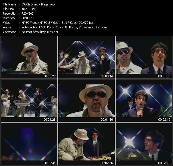 Chromeo video screenshot