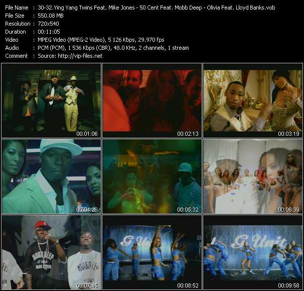 Ying Yang Twins Feat. Mike Jones - 50 Cent Feat. Mobb Deep - Olivia Feat. Lloyd Banks video screenshot