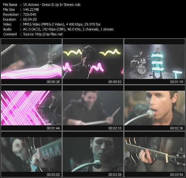 Actress video screenshot