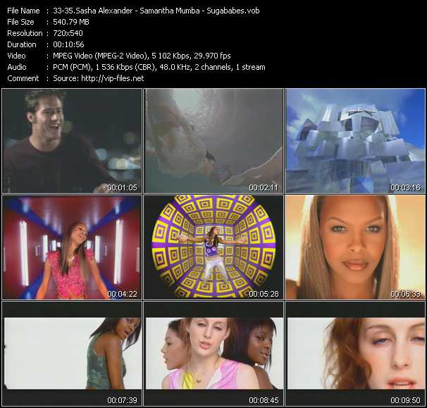 Sasha Alexander - Samantha Mumba - Sugababes video screenshot