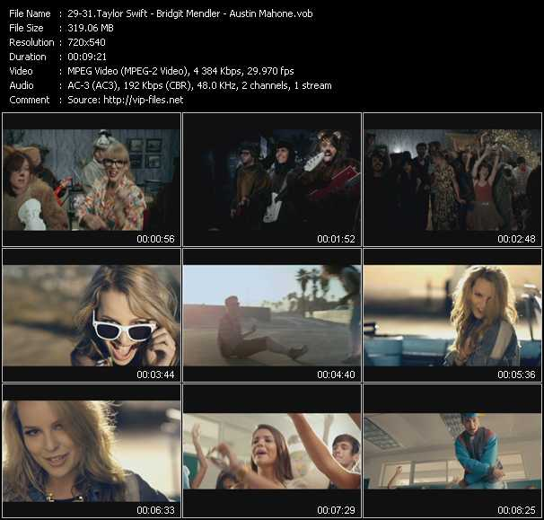 Taylor Swift - Bridgit Mendler - Austin Mahone video screenshot