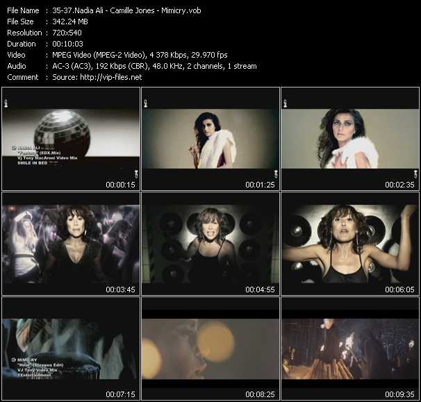 Nadia Ali - Camille Jones - Mimicry video screenshot