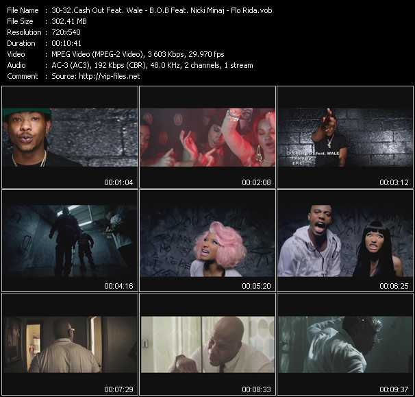 Cash Out Feat. Wale - B.O.B. Feat. Nicki Minaj - Flo Rida video screenshot