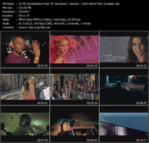 Soundshakerz Feat. Mc Shurakano - Antonia - Calvin Harris Feat. Example video screenshot