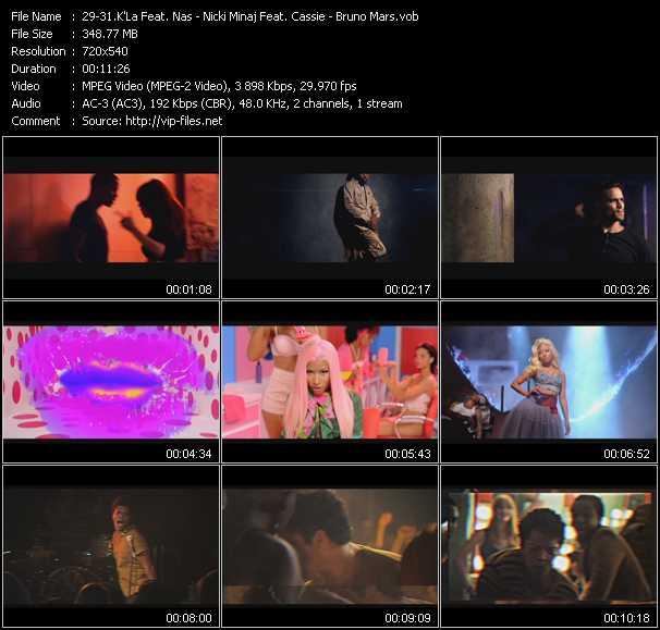 K'La Feat. Nas - Nicki Minaj Feat. Cassie - Bruno Mars video screenshot