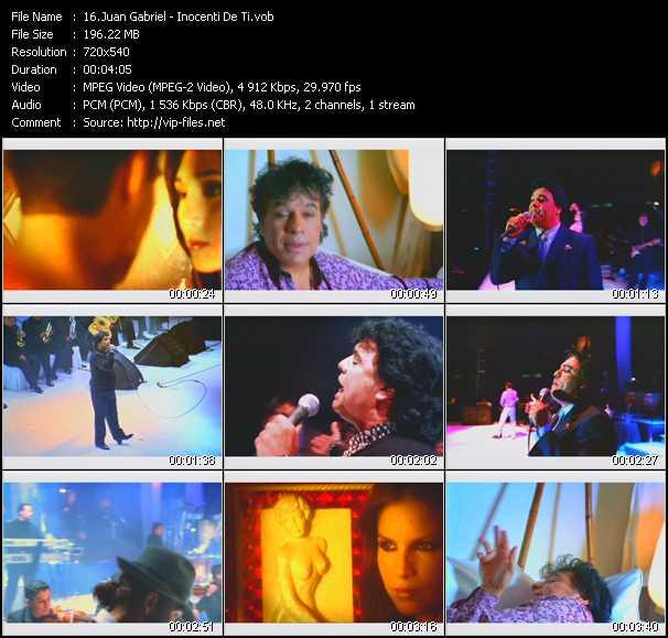Juan Gabriel video screenshot