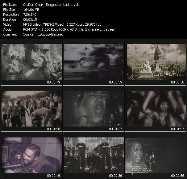 video Reggeaton Latino screen