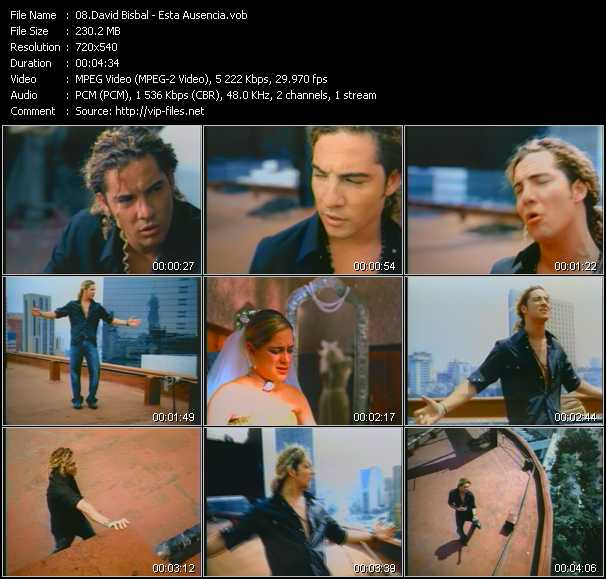 David Bisbal video screenshot
