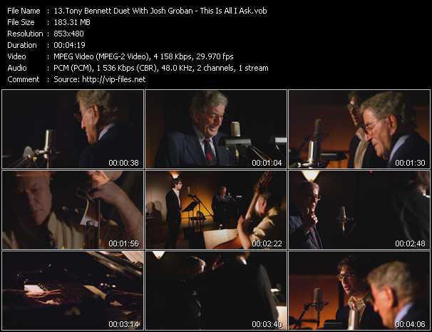 Tony Bennett Duet With Josh Groban video screenshot