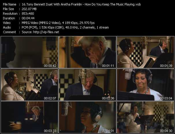 Tony Bennett Duet With Aretha Franklin video screenshot